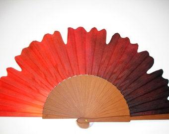 """Spanish fan/hand-painted fan/flamenco fan/wood fan """"Passion"""""""