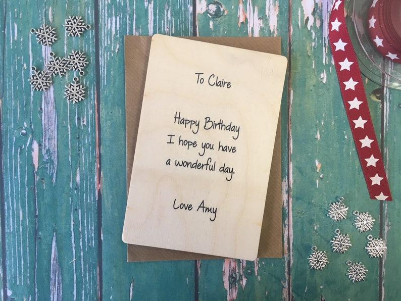 Wooden Wish Bracelet Christmas Floral Teaching Assistant Charm Bracelet  Friendship Bracelet  Christmas Gift  Stocking Filler  DD186