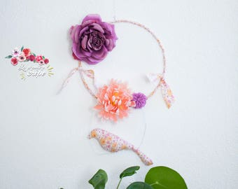 Hanging flower and bird liberty
