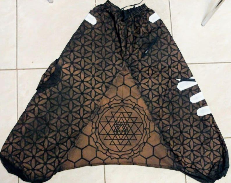 Sri Yantra Honeycomb Harem Pants
