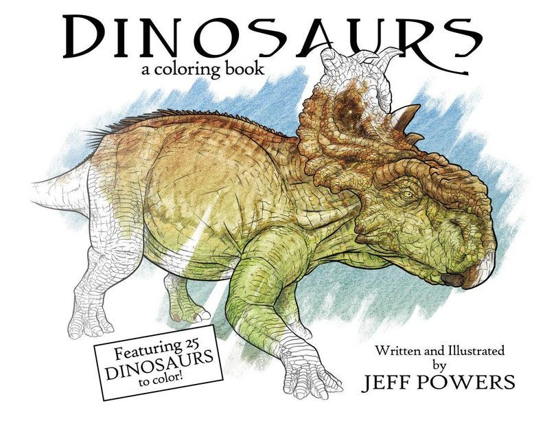 Dinosaurs: a coloring book by Jeff Powers image 0