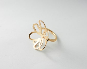 The small ring 925 / - Silver Rotvergoldet size 52.5