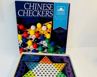 Vintage Chinese Checkers - Golden Classic Games