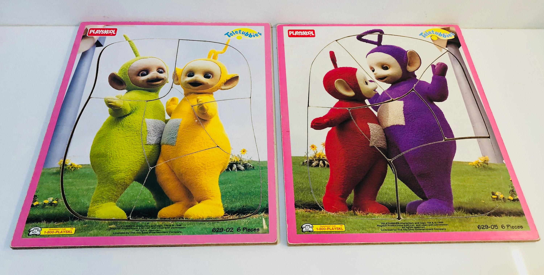 2 x Vintage Teletubbies Puzzle Lot Playskool 6 Piece  4b86567ea4