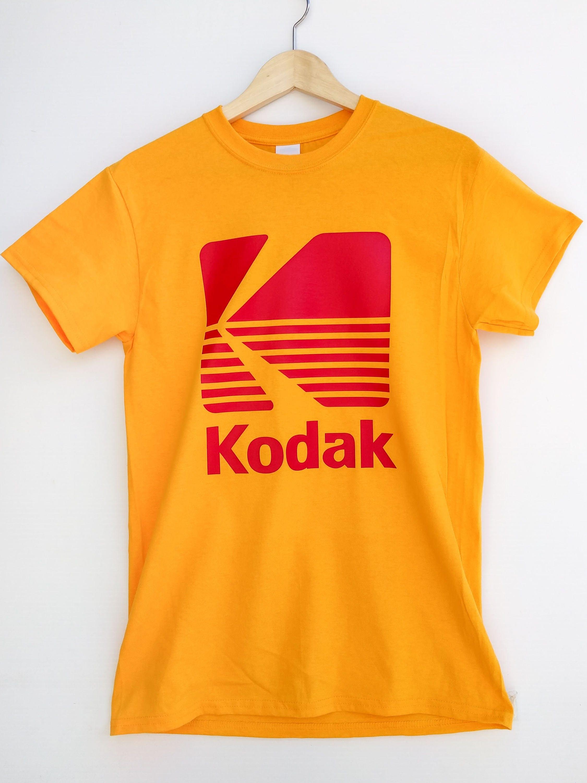 Vintage kodak film camera logo t shirt photography etsy for Camera film logo
