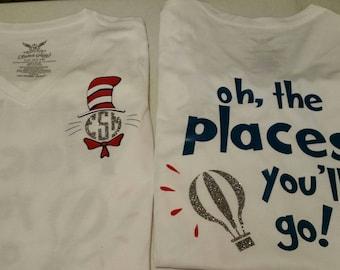 Dr. Suess inspired monogram Shirt