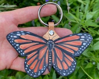Monarch Butterfly Key Charm