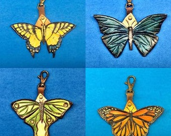 Blue morpho butterfly nature charm