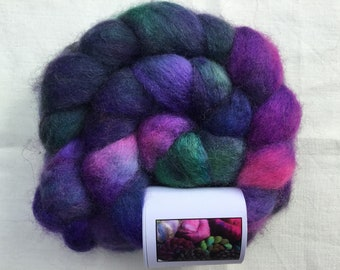 Hand Dyed Bluefaced Leicester wool tops