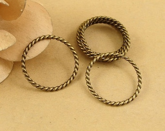 Bulk Lot 100pcs of 16x12mm Circle Charm Pendants Connector Wholesale Charms Antique Bronze Jewelry Findings PA1073-A1874