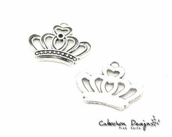 Wholesale charms etsy bulk lot 70pcs of 23x18mm vintage crown charm pendants connector wholesale charms antique silverjewelry findings gy148 aloadofball Gallery