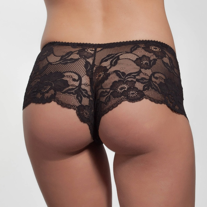 Black Hipster French Lace French Knickers sexy lingerie  0ebbf7d60