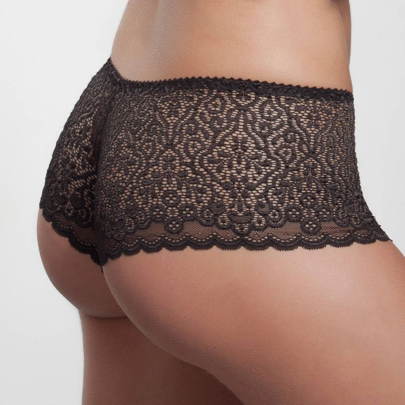 e605a5fd4 Black Hipster-French Knickers-Lace panty exclusive lingerie