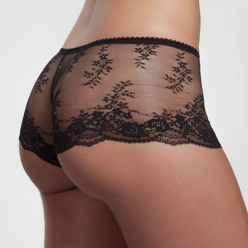 Lace Boyshort Black Hipster Panties Lace from France in  ef3a8878c