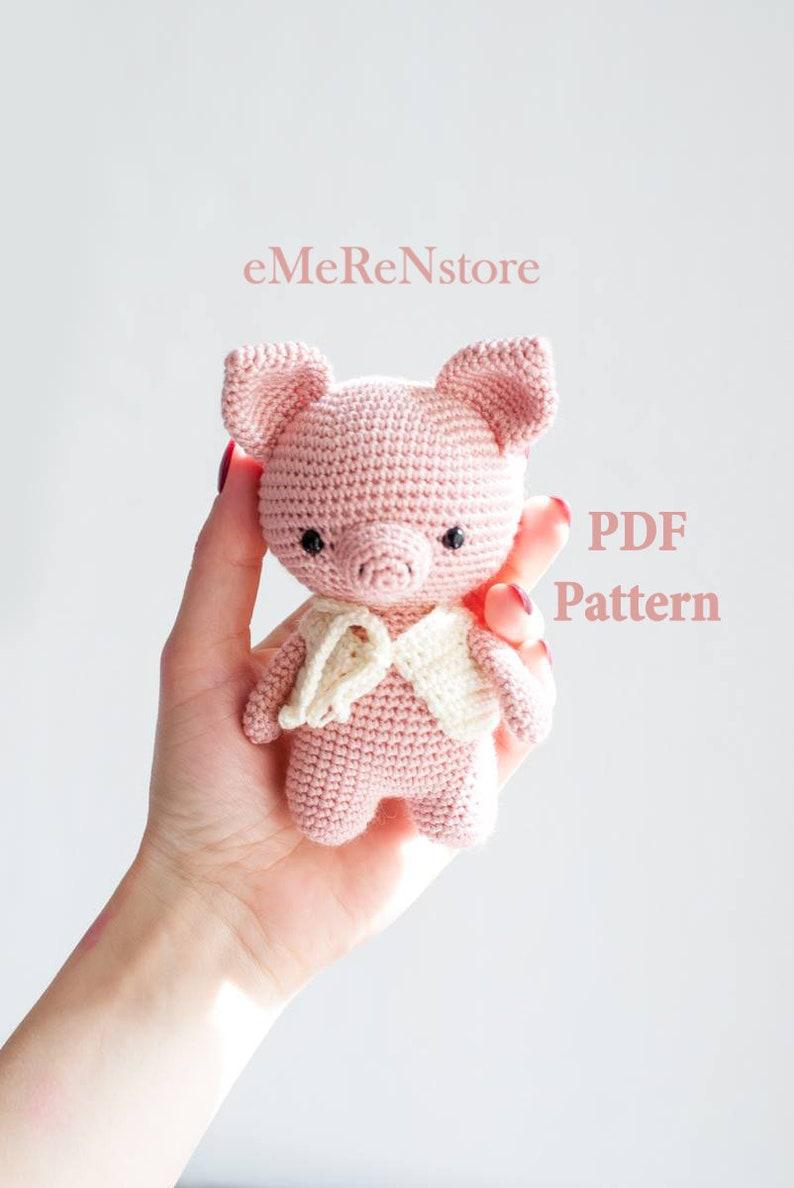 Amigurumi sweet pig free pattern | Amiguroom Toys | 1188x794
