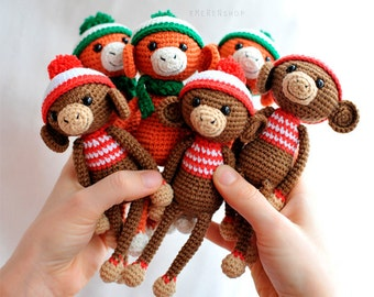PDF pattern Сrochet monkey in hat , amigurumi pattern, monkey pattern, crochet animals, PDF pattern, crochet toy pattern