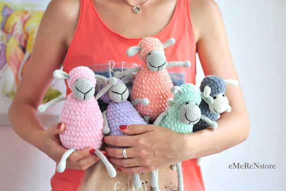 Сrochet sheep pattern,Cute sheep, amigurumi pattern, lamb pattern, crochet animals, PDF pattern, crochet toy pattern