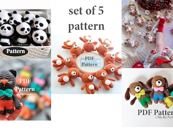 Set of 5 amigurumi patterns