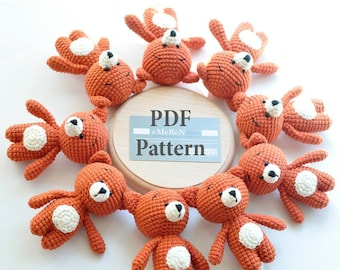 Amigurumi Fox Pattern -Christmas Crochet Pattern - Fox Crochet Pattern - Crochet Pattern Fox - Crochet Fox Pattern - Amigurumi Fox Patterns