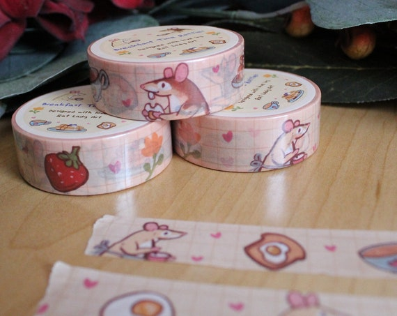 Breakfast Food and Rats and Grid Washi Tape