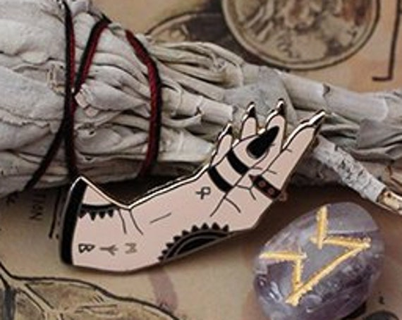 ON SALE Hands of Fate Witchy Hard Enamel Pin