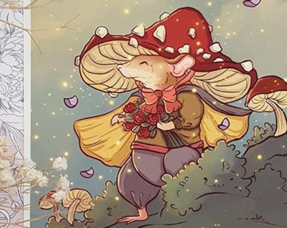 Mushroom Rat Adventurer Fine Art Print