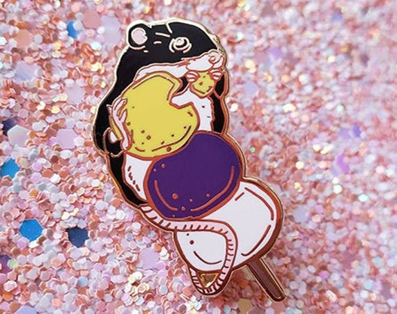 Nonbinary Dango Rat Pride Flag Hard Enamel Pin