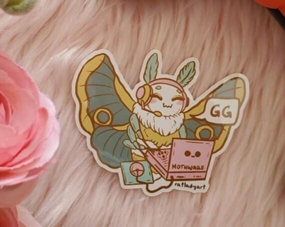 Stickers Moth Gods Hobbies and Crafts Diecut Glossy Vinyl Weatherproof