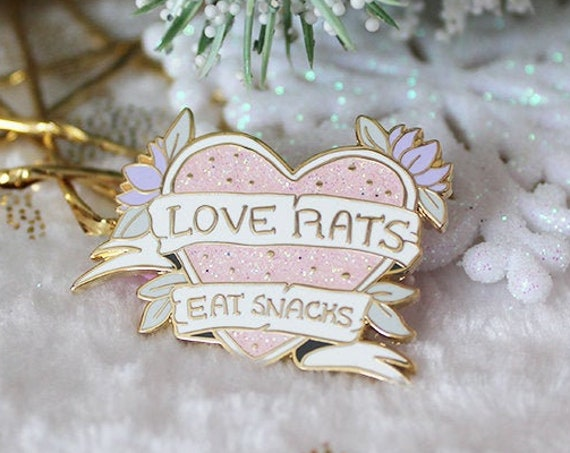 ON SALE Love Rats Eat Snacks Hard Enamel Pins