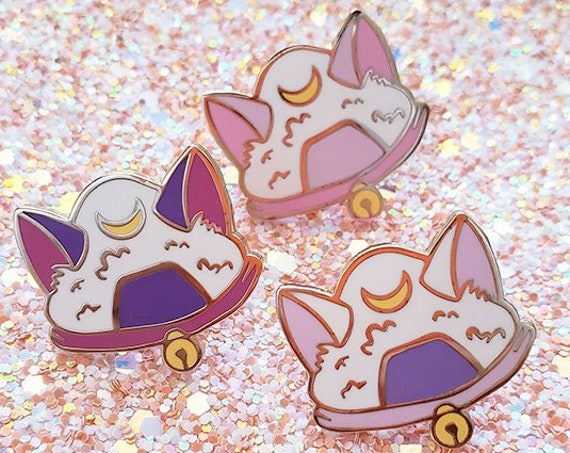 ON SALE Onigiri Cat Pin Sailor Moon Magical Sailor Usagi Jupiter Girl Luna Artemis Diana