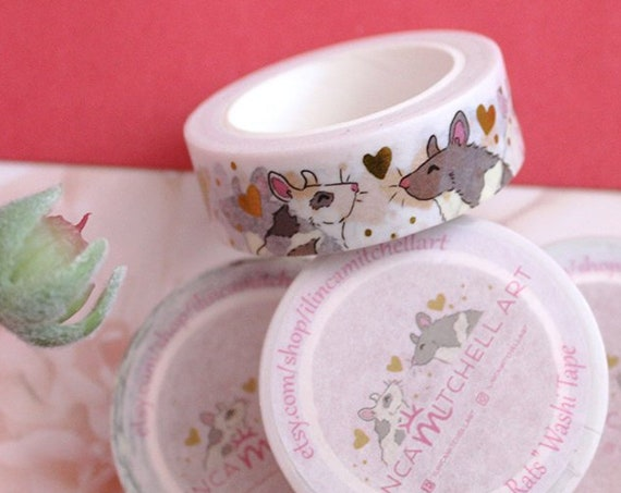 Rats Gold Foil Washi Tape