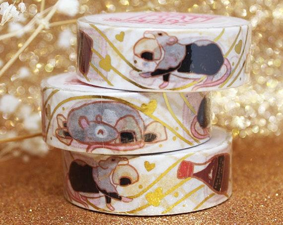 Rats Gold Foil Washi Tape Bento Box Sushi Soy Sauce