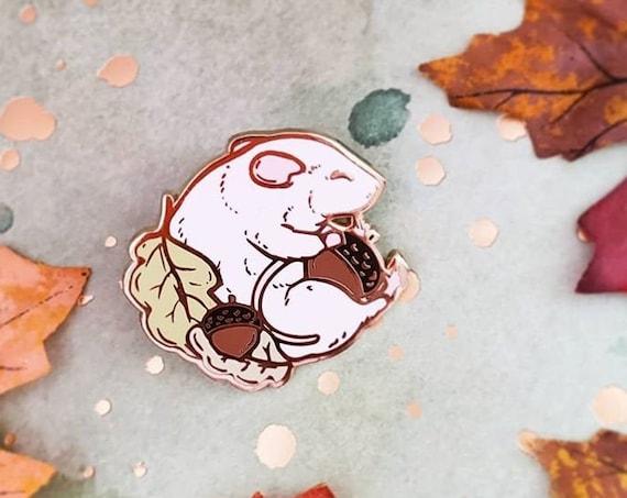 Sleepy Acorn Rattie Witchy Hard Enamel Pin