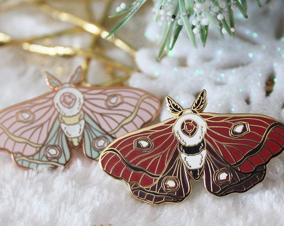 Eye Moth Enamel Pins Rose Gold Pastel Goth