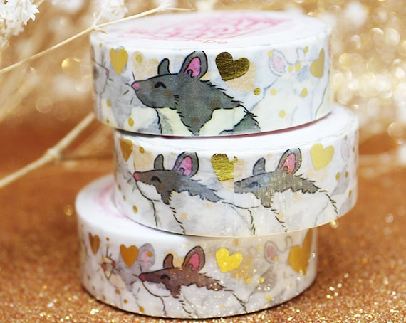 Love Rats Gold Foil Washi Tape Valentines Day