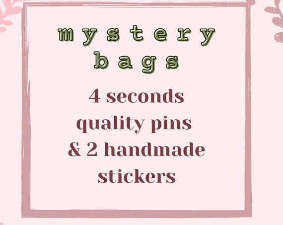 MYSTERY BAG seconds hard enamel pins + stickers