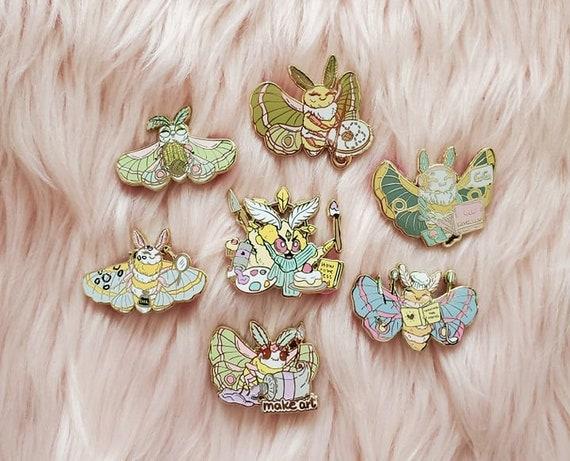 Moth Gods Hobbies and Crafts Enamel Pins