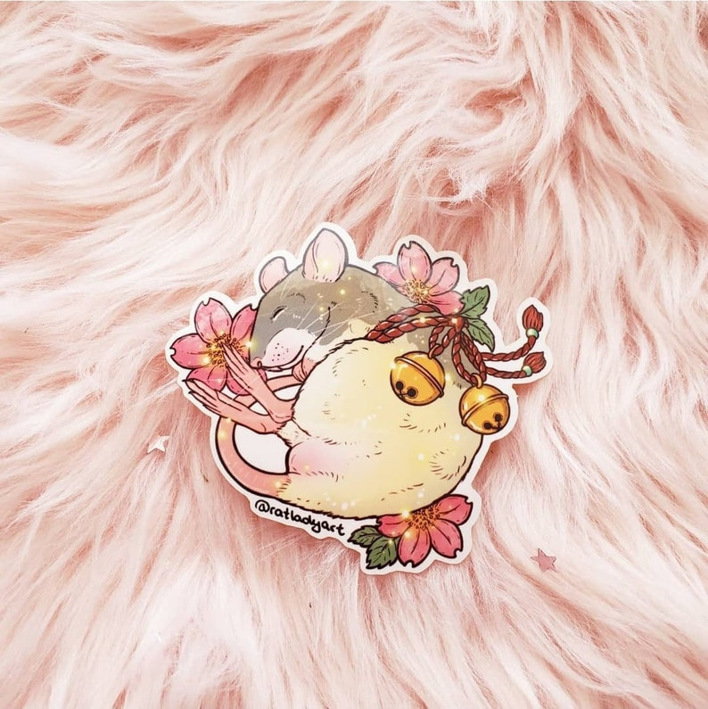 Cherry Blossom Bell Rat and Mouse Weatherproof Die-Cut image 0