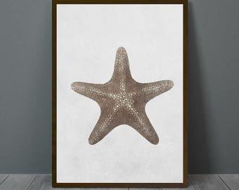 Starfish Wall Art, Starfish Print, Starfish Wall Decor, Digital Poster, Animal Print, Printable Wall Art
