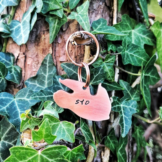 Sloth Dog ID Tag Hand Stamped Tag