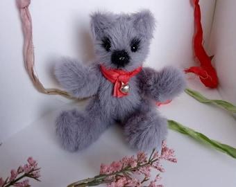 Hand Crocheted Teddy Bear French Lilac