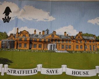 Country House, Vintage Tea Towel, Duke Of Wellington, Vintage Teatowel, Retro Kitchenalia, Linen Tea towel, Kitchen Decor, Made In England