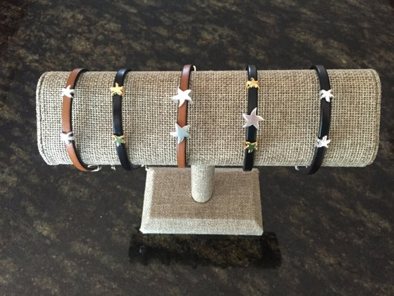 "5mm Italian Leather with ""Star-fish"" Sliders and Adjustable Lobster Clasp"
