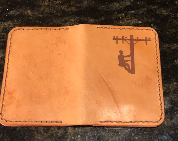 Vertical Lineman Wallet in W&C Russet Harness