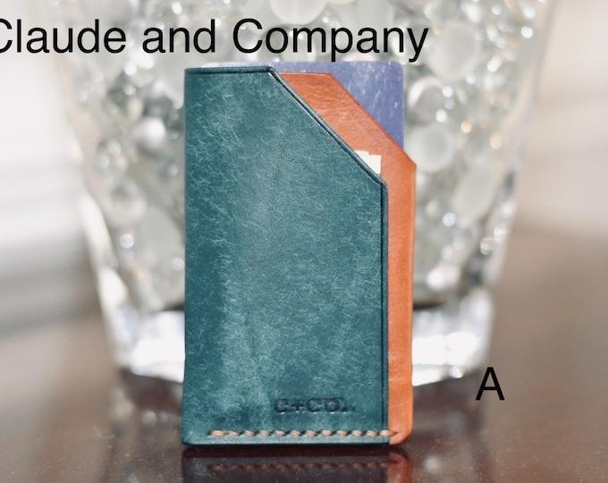 Small Batch Veg-Tan Minimalist Card and Cash Wallet #1