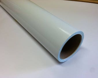 WHITE Dry Erase Vinyl Film With Removable Adhesive, Used with Dry Erase Markers