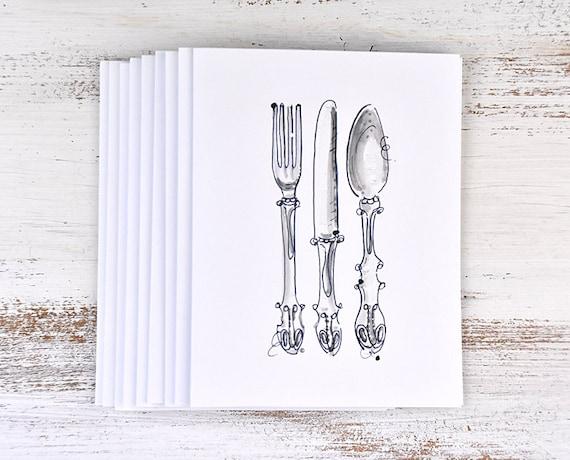 Dinner Party Invitations Elegant Invitation Dinner Party Cards For Dinner Party Silverware Note Card Set