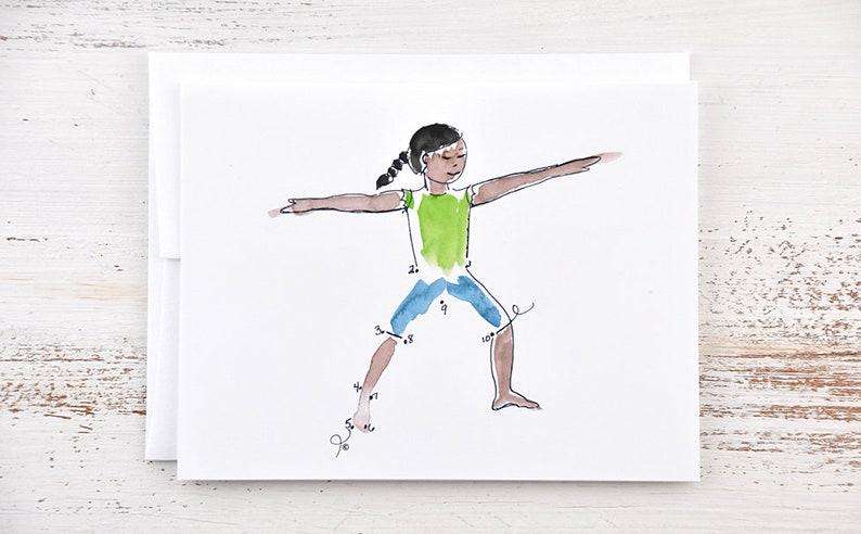 Kids Yoga Gifts Yoga Cards Warrior II Kids Yoga Yoga Yoga Gifts Yoga Pose Kids Yoga Card