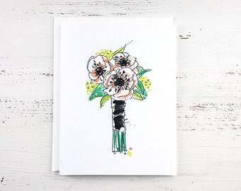 Anemone Flower Note Card