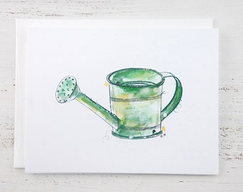 Watering Can Note Card